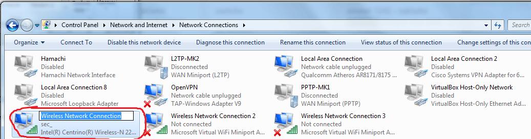 nastavení IP